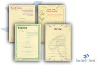 Church Ceremony Certificates